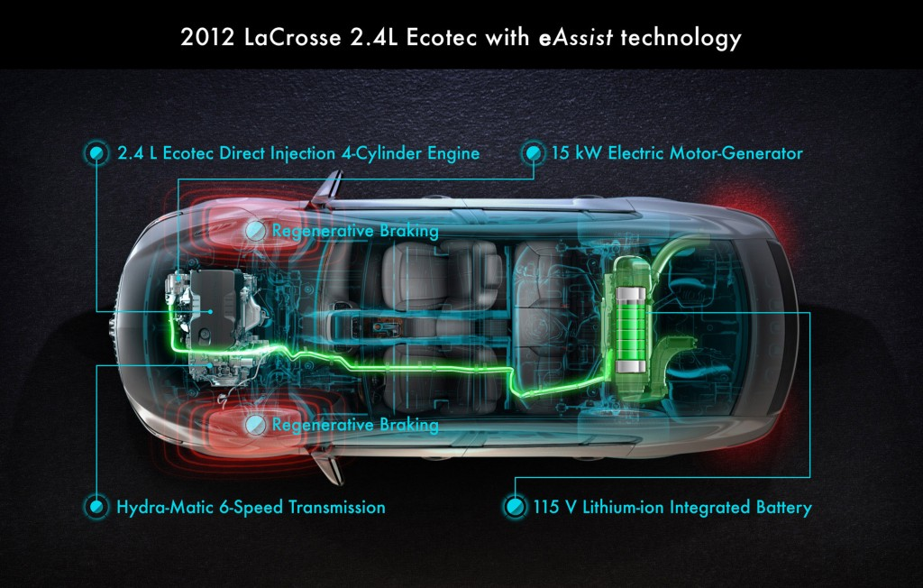 Gm Announces 2012 Buick Lacrosse With Eassist Hybrid