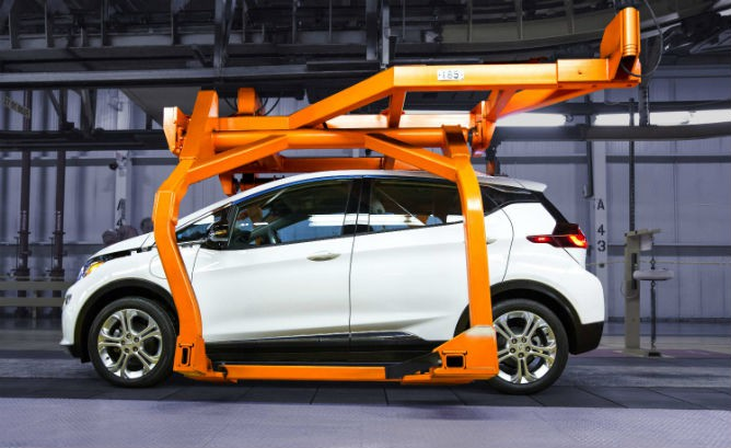 Chevy Bolt is being readied for consumer orders starting at the end of this year. Tesla and Nissan are also due to have 200-mile EVs.