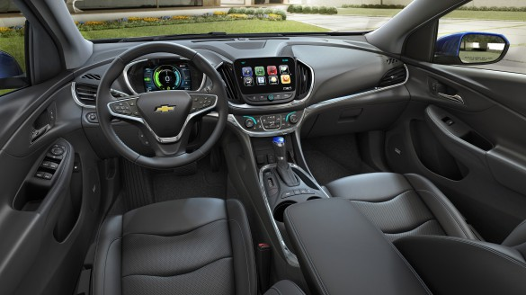The 2016/17 Volt is updated inside as well, and considered a technological halo for General Motors.
