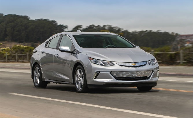 2016 Chevy Volt. The Chrysler has a lot in common with the Volt, albeit technically different, and in a different segment. In common are no range anxiety and enough electric range for many – if not all – daily drivers.