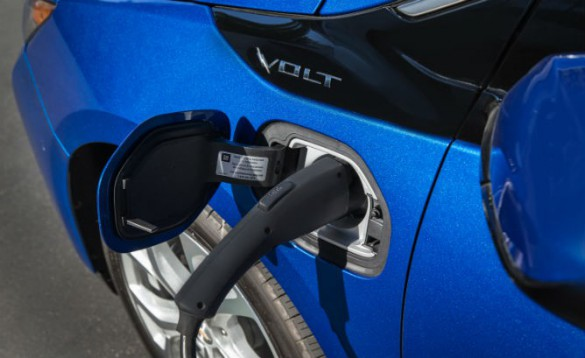 The Chevy Volt is a compact, so it's smaller than midsized plug-in hybrid sedans, but stomps them all in the all-important EV range category, with 53 miles rated range.