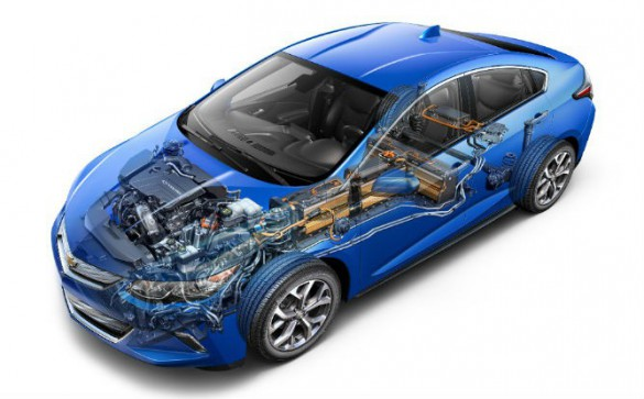 GM kept updated the LG Chem-based battery assembly for 2016 while keeping the formula of the 35-40-mile range generation one basically intact.