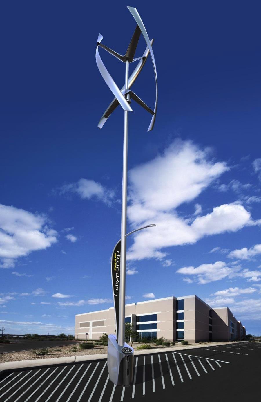 Sanya Skypump Wind Turbine Is Getting Set To Charge Evs