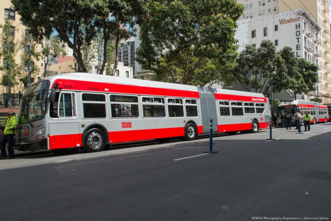 A San Francisco bus using the Allison Transmission hybrid system.
