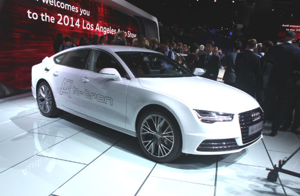 Audi show cases plug-in hybrid A7 FCV