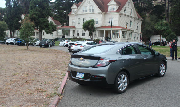 This Was In Sausalito The Tent Chevrolet Had Set Up For Waves Of Journalists