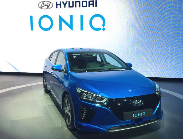 Hyundai benchmarked the Ioniq three-in-one car against the Toyota Prius – which comes in hybrid and plug-in hybrid models, but does not have an all-electric version. Shown is a special autonomous version. Photo: Jeff N.