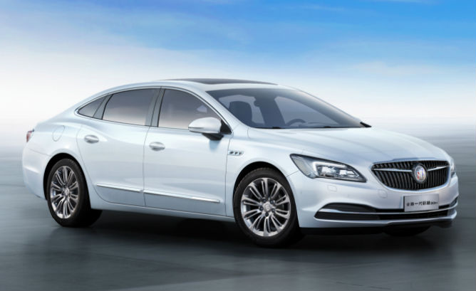 Buick LaCrosse Hybrid. GM has only said this is for China.