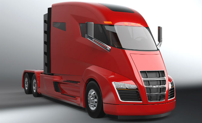 If Nikola Motor Company S Plans Come To P Its One Series Hybrid Electric Truck Threatens Do Trucking What Tesla Model Has Done Within