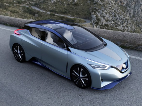 Nissan IDS Concept believed by some to contain elements foreshadowing the next Leaf's design language.