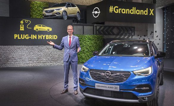 Opel Just Unveiled A Plug In Hybrid Version Of Its All New Grandland X Sport Utility Vehicle At The Frankfurt Auto Show