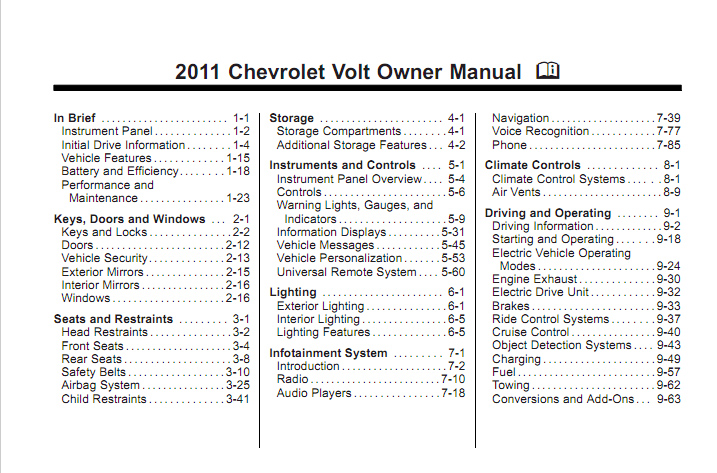 Chevy volt owners manual gm volt chevy volt electric car site there publicscrutiny Images