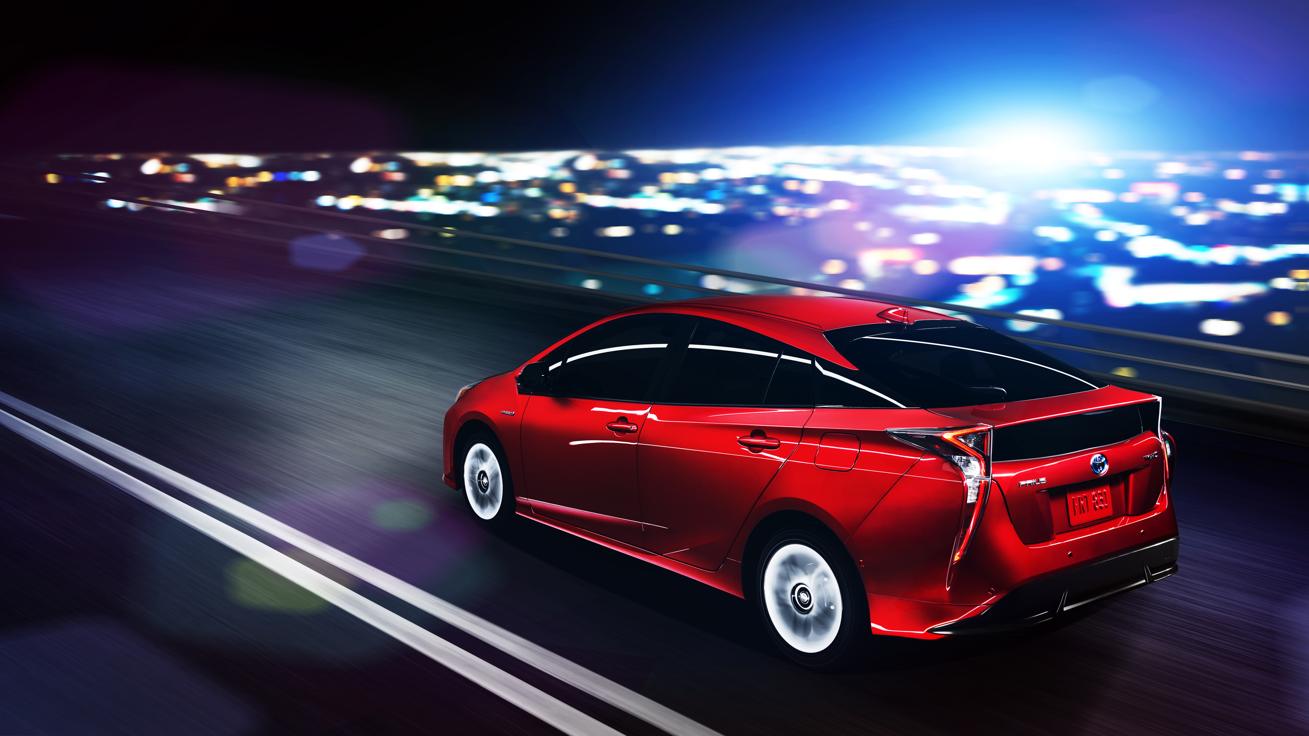 "Seven colors include an all-new "" Hypersonic Red."" This new color ""utilizes a newly developed treatment process, which results in a deep and vibrant luster highlighting the external forms,"" says Toyota."