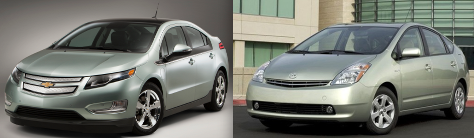 2017 Chevrolet Volt And 2008 Toyota Prius