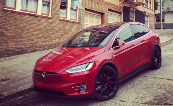 """Model X, introduced last year. Range increases from 250 miles to 289 with P100D version. The new battery pack, available in September, and only in Performance AWD trim for now, uses the same cell technology, but was """"a pretty big change in the battery module and pack technology,"""" said CTO JB Straubel, noting the cooling architecture is revised. The upgrade includes also premium seats."""