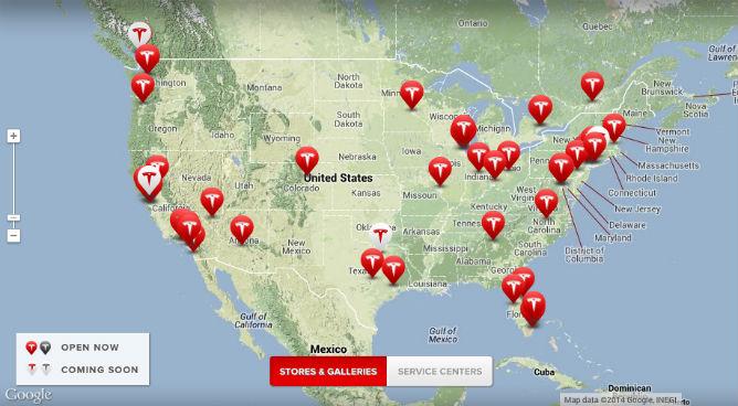 Tesla location california