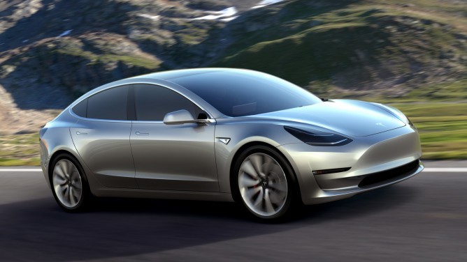 Model 3 concept. Tesla has said the design is subject to evolve to some degree.
