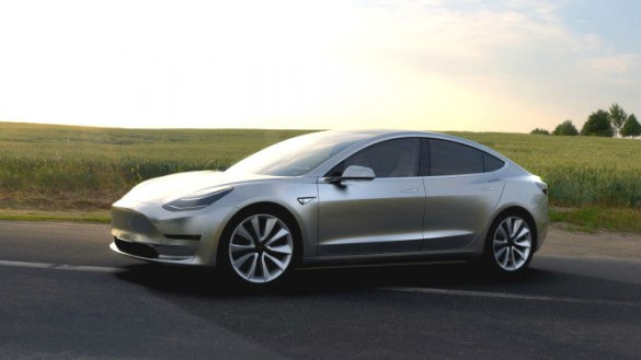 Tesla Model 3 prototype. Projected for release as soon as 2017. Company CEO Elon Musk said it wants to sell half a million Tesla models by 2018. Analysts have said they do not believe this is more than a stretch goal that won't be reached, though anything is possible. More certain is it is a goad to others.