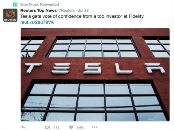 """Never shy to shape the ongoing narrative of the Tesla Story, last week Musk tweeted a vote of confidence published making a case for Tesla's """"fruitful synergies."""""""
