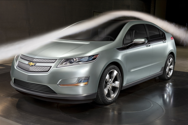 2011 Chevrolet Volt in the wind tunnel at the Aerodynamic Labora